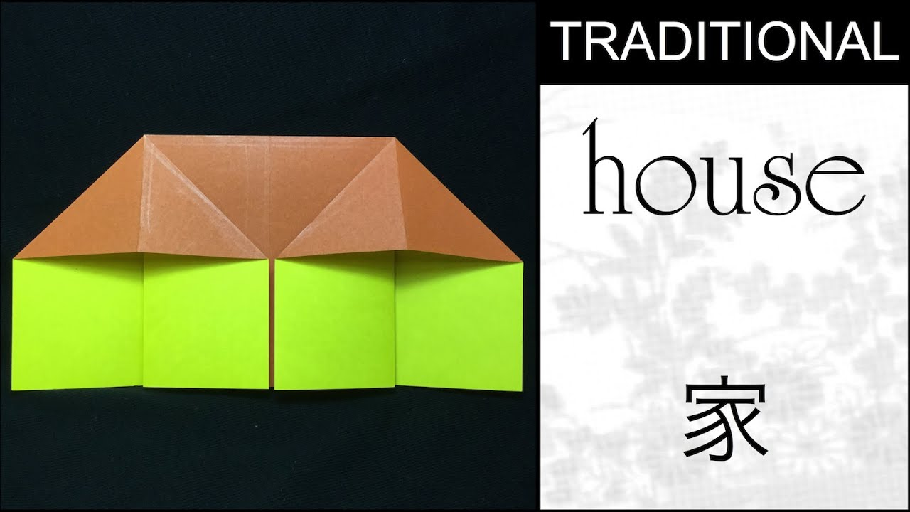 traditional origami house tutorial youtube
