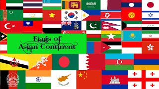 NATIONAL ANIMATED FLAG OF ASIAN CONTINENT COUNTRY | GREEN SCREEN EFFECT | GREEN SCREEN VIDEO