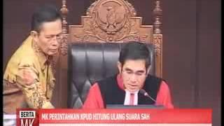 [video] MK Perintahkan KPU Deli Serdang Hitung Surat Suara Ulang di Seluruh TPS