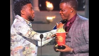 Chadwick Tribute Honors James Shaw Jr Gives HIm His Award MTV Movie Awards MY THOUGHTS REVIEW