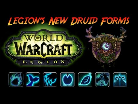 World of Warcraft Legion - New Druid Forms