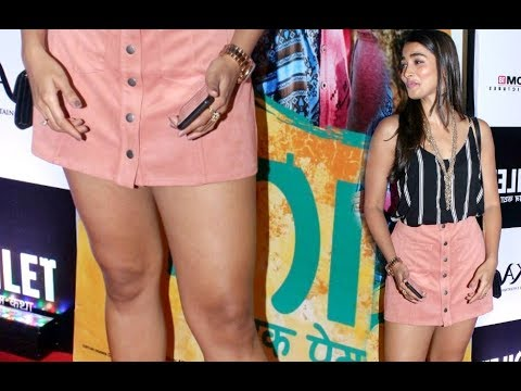 Pooja Hegde HOT Thighs Show At Toilet Ek Prem Katha Screening