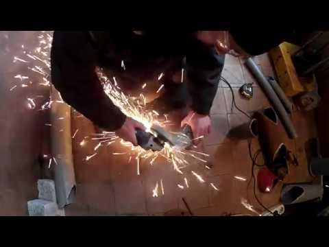Как сделать врезку в трубу под 45 градусов
