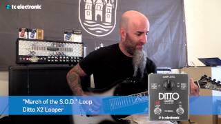"Scott Ian (Anthrax) creates his ""March of the S.O.D"" Loop for Ditto X2 Looper"