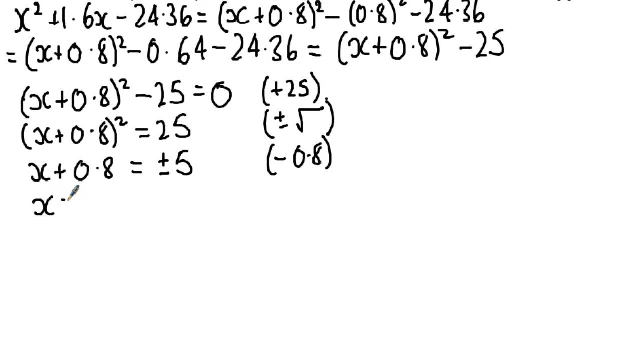 Wjec C1 2014 Jan Q4 Pleting The Square Solution