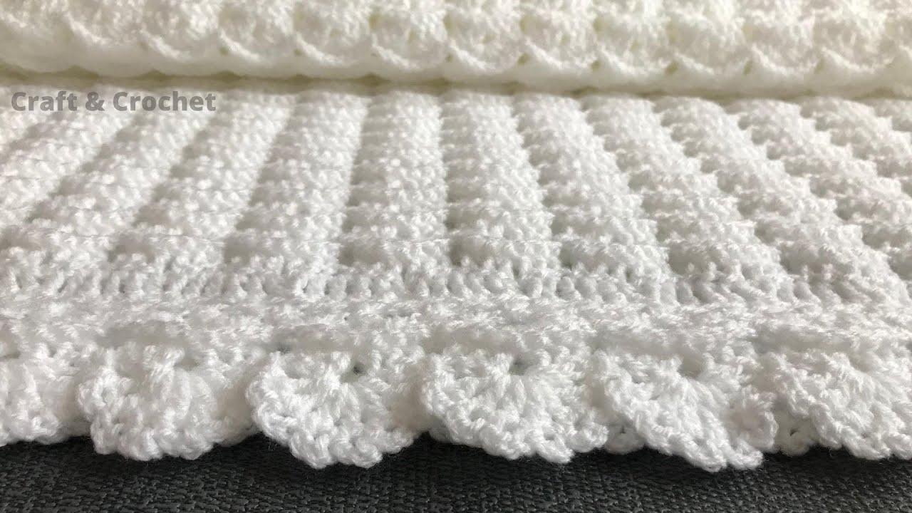 Cobertor De Croche Facil Padrao De Manta De Croche Artesanato E Croc Easy Crochet Baby Blanket Baby Blanket Crochet Easy Crochet Baby