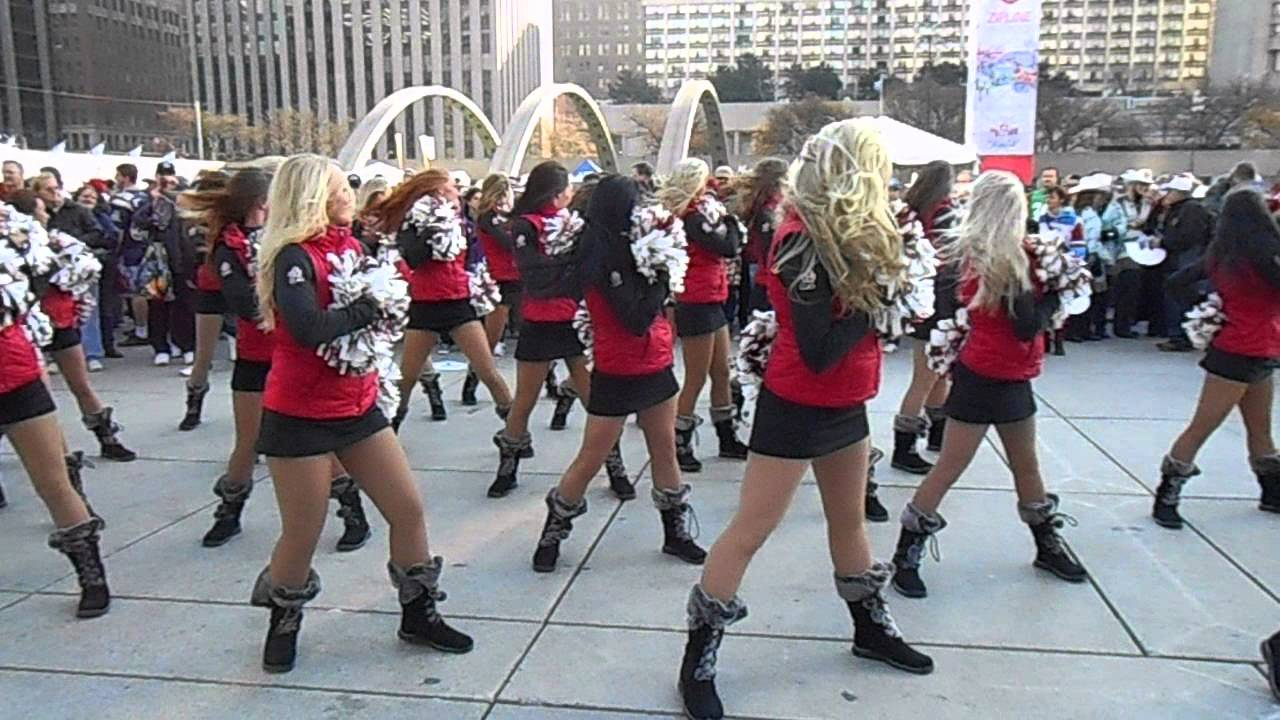Cfl Stampeder Outrider Cheerleaders Youtube