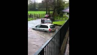 Green rd hall green cars in water