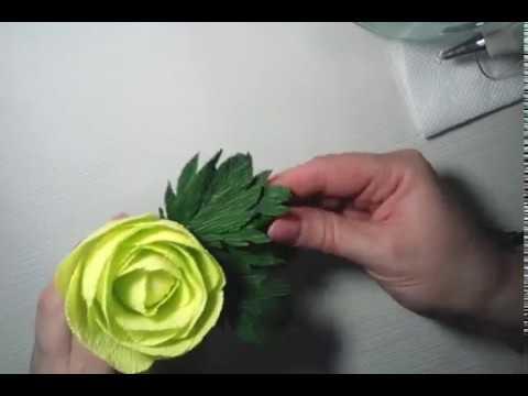 DIY- artificial greenery made of corrugated paper/ Искусственная зелень из гофрированной бумаги