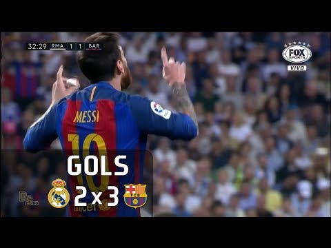 Gols - Real Madrid 2 x 3 Barcelona - La Liga 16-17 - Fox Sports HD 60 fps