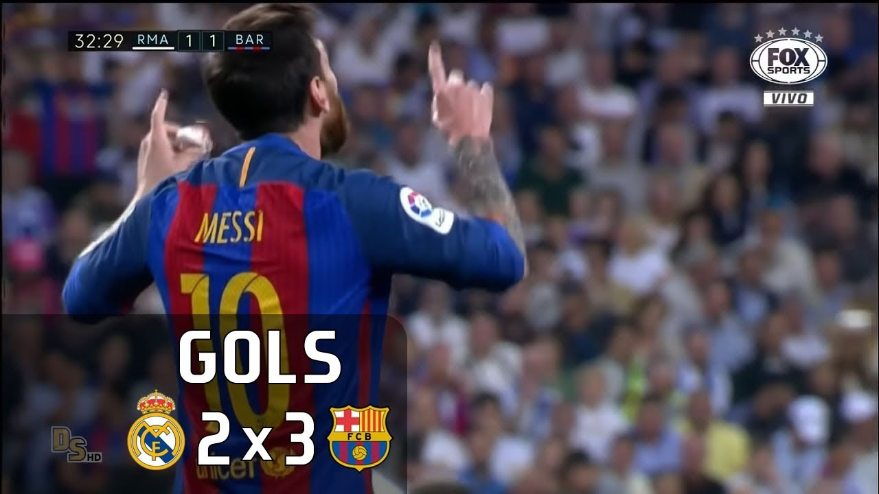 Gols - Real Madrid 2 x 3 Barcelona - La Liga 16-17 - Fox Sports HD