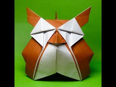 tuto origami hiboux