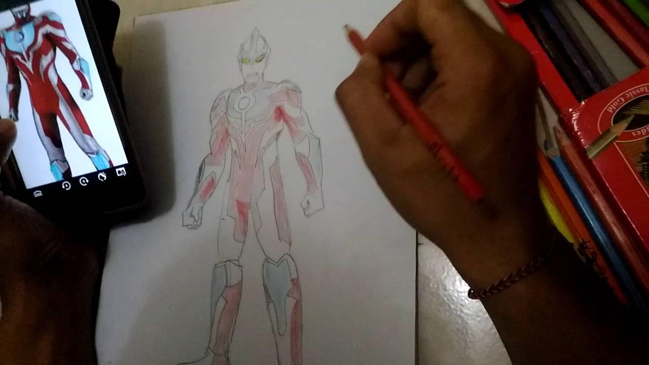 Menggambar Dan Mewarnai Ultraman Ginga Bagian 3