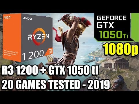 Ryzen 3 1200 Paired With A GTX 1050 Ti - Enough For 60 FPS? - 20 Games Tested At 1080p - Early 2019