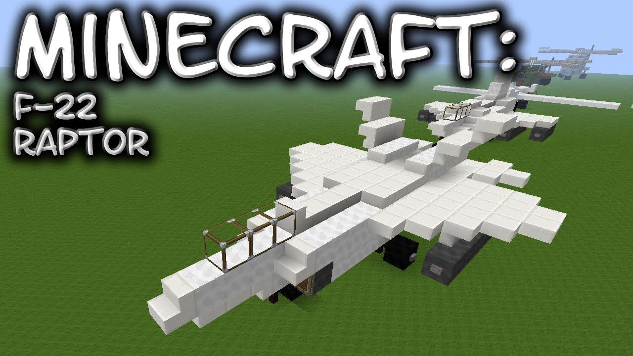 Minecraft F 22 Raptor Tutorial Youtube