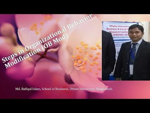 Steps Of Organizational Behavior Modification Ob Mod