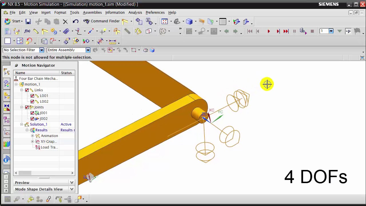 NX: Motion Simulation | Inline and Inplane Joint - YouTube