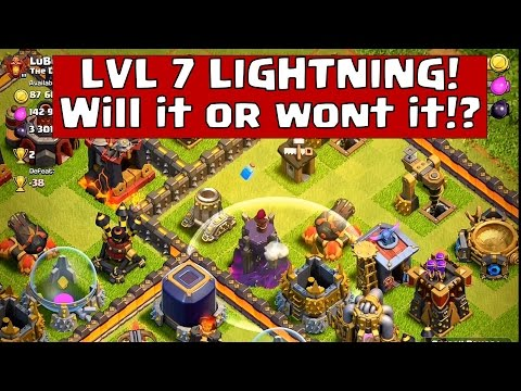 Clash of Clans - UPDATE: ♦Testing new LIGHTNING SPELL LVL 7♦: Clash of Clans - The spells changes since the clash of clans update may change the game. 25 new walls, Poison slows down the royals, earthquake progressive damage changed, poison also exponential damage but will the new lightning again take down wizards towers? Can it take down adjacent structures? Lets find out!  SUBSCRIBE to my channel: http://www.youtube.com/subscription_center?add_user=lostphoenixclan  Free gems Unlimited https://www.youtube.com/watch?v=46mFh6uuzHk  Facebook : https://www.facebook.com/LostPhoenixClashOfClans  Follow me on Twitter @Clashstrategy  Send me your replays! lostphoenixclan@gmail.com via www.wetransfer.com (for large files)  MUSIC: My attack - Robot Race  Clash Of Clans  Clash of Clans is an addictive mixture of strategic planning and competitive fast-paced combats. Raise an army of Barbarians, War Wizards, Dragons and other mighty fighters. Join a clan of players and rise through the ranks, or create your own Clan to contest ownership of the Realm. Driving back the goblins is just the first step - your quest isn't over until your clan reigns supreme over all others!  Seller: Supercell Oy Category: Games Updated: Oct 22, 2014 Version: 6.322 Size: 52.9 MB Languages: English, Japanese, Korean, Simplified Chinese, Traditional Chinese © 2012, 2013, 2014 Supercell Rated 9+ for the following: Infrequent/Mild Cartoon or Fantasy Violence Compatibility: Requires iOS 4.3 or later. Compatible with iPhone, iPad, and iPod touch. This app is optimized for iPhone 5, iPhone 6, and iPhone 6 Plus.