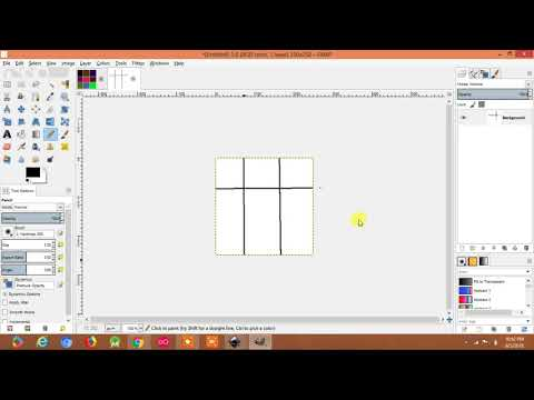How To Draw Straight Line In Gimp | Making Color Box (hindi)
