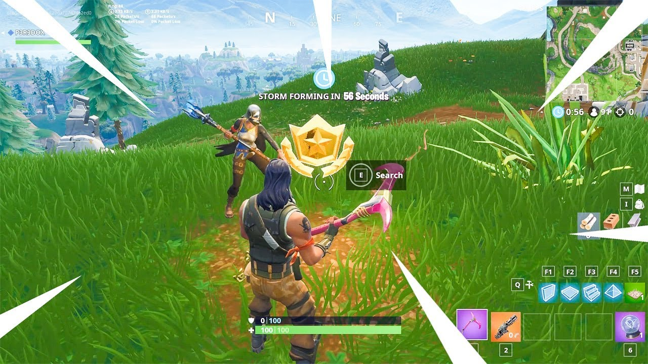 Search Between Three Oversized Seats Fortnite Season 5 Week 8 Challenges