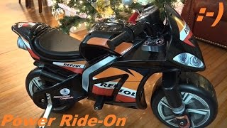 Power Ride-On Motorcycle for Kids Honda Repsol Unboxing and Assembling