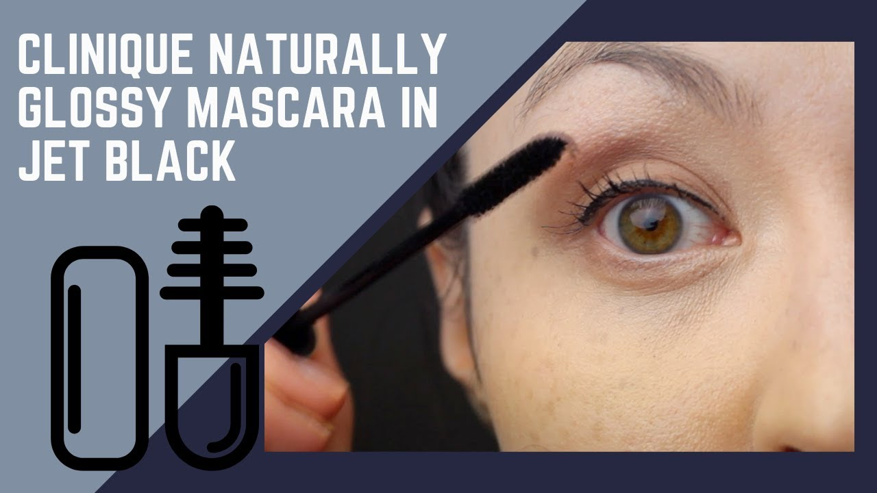 8d2e934b319 Clinique Naturally Glossy Mascara in Jet Black - quick swatch and review
