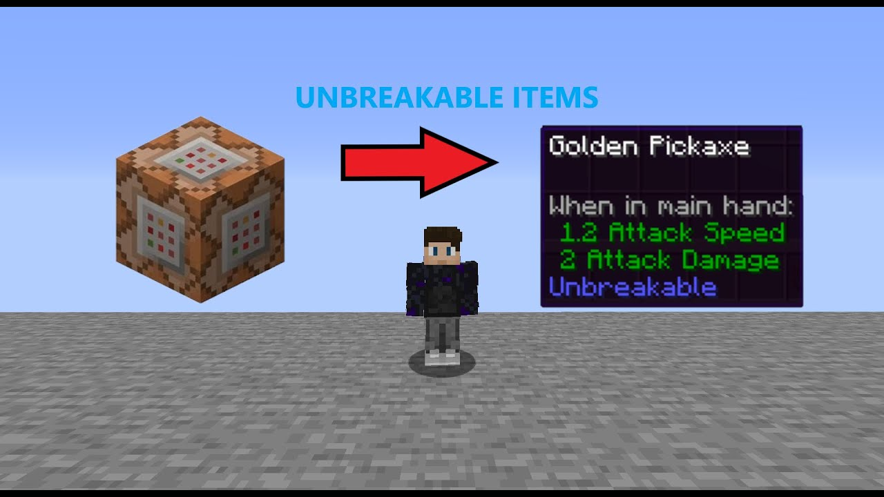 How To Get Unbreakable Items In Minecraft (8.85.8)