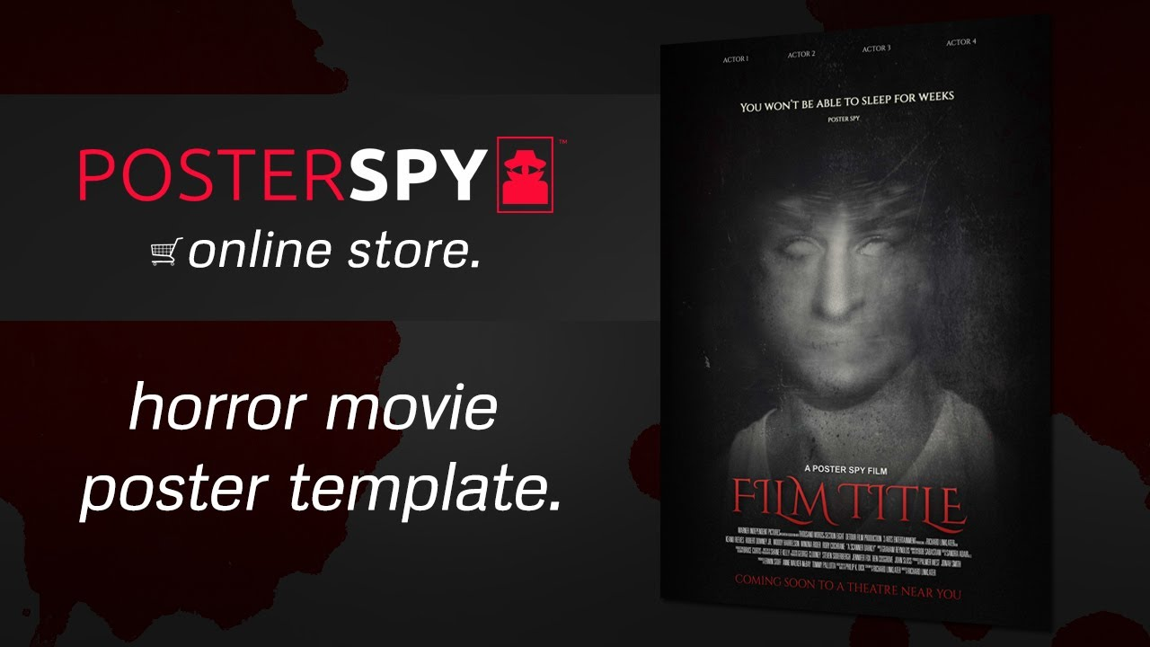 Horror Movie Poster Template PSD - Poster Spy Online Store - YouTube