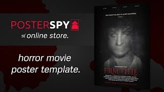 Horror Movie Poster Template PSD - Poster Spy Online Store
