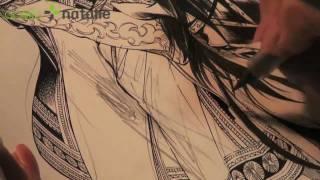 Kaoru Mori inks Amir IV (5 of 6)