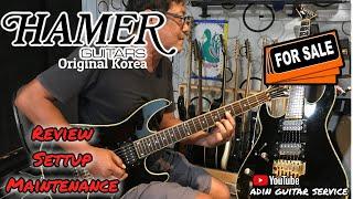 HAMER GUITAR KOREA, REVIEW, SETTUP,FOR SALE.mov