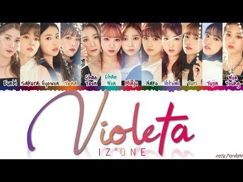 IZ*ONE 아이즈원 - &39;VIOLETA&39; 비올레타  Color CodedHanRomEng