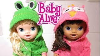 BABY ALIVE Mckenzie And Alayna Try To Cook!