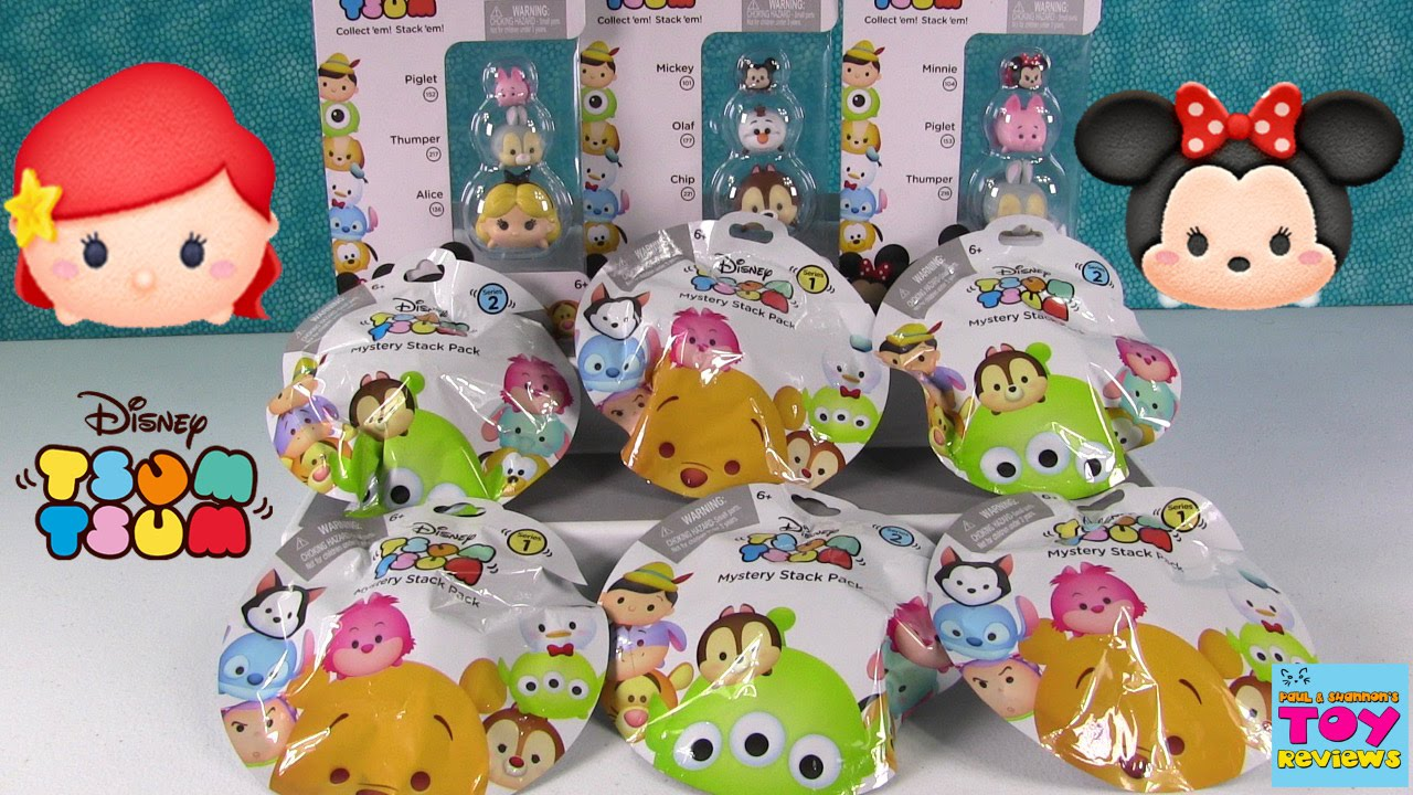 Disney tsum tsum series 1 2 mystery stack 3 packs opening pstoyreviews youtube for Tsum tsum watch