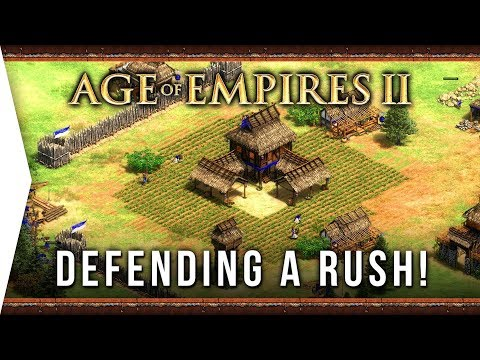 Defending Against A Rush ► Age Of Empires II: Definitive Edition - #3 The Art Of War GOLD! - AoE 2