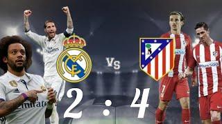 реал Мадрид вс Атлетико Мадртд  супер кубок  2 4 Польний обзор матч
