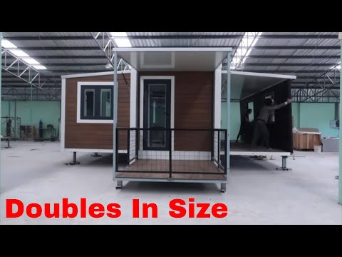 Shipping Container Home That Triples In Size (Unique Builds)