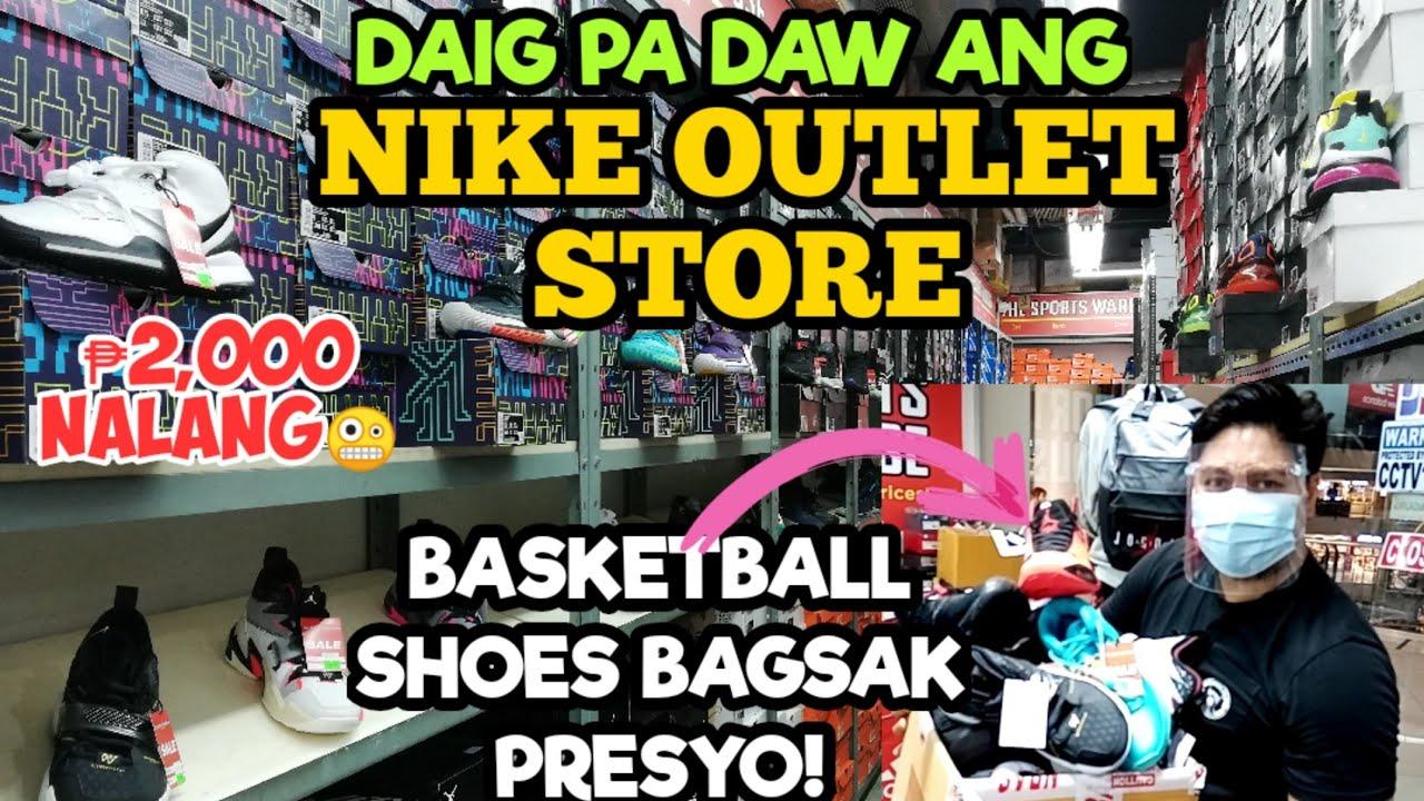 Daig Pa Daw Ang NIKE OUTLET STORE // BAGSAK PRESYONG NBA SIGNATURE BASKETBALL SHOES SALE 60% OFF!