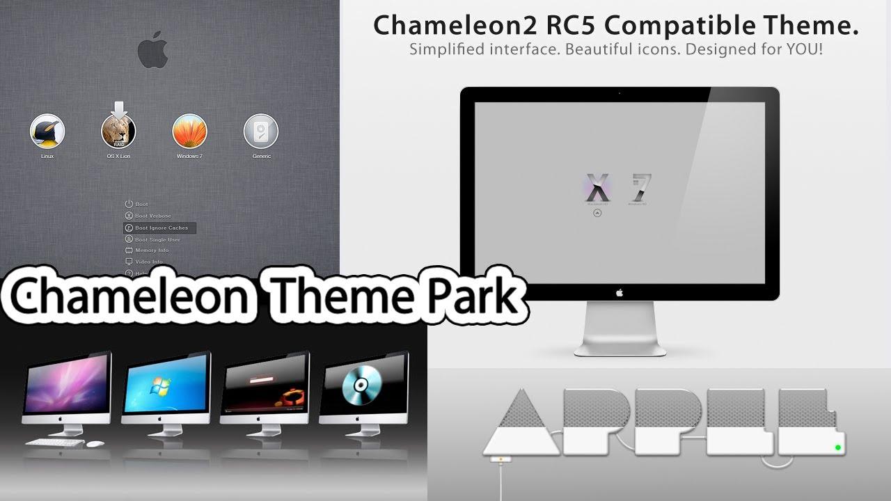 Chameleon Theme Park Mac OS X + Windows 7/8 Dual-Boot