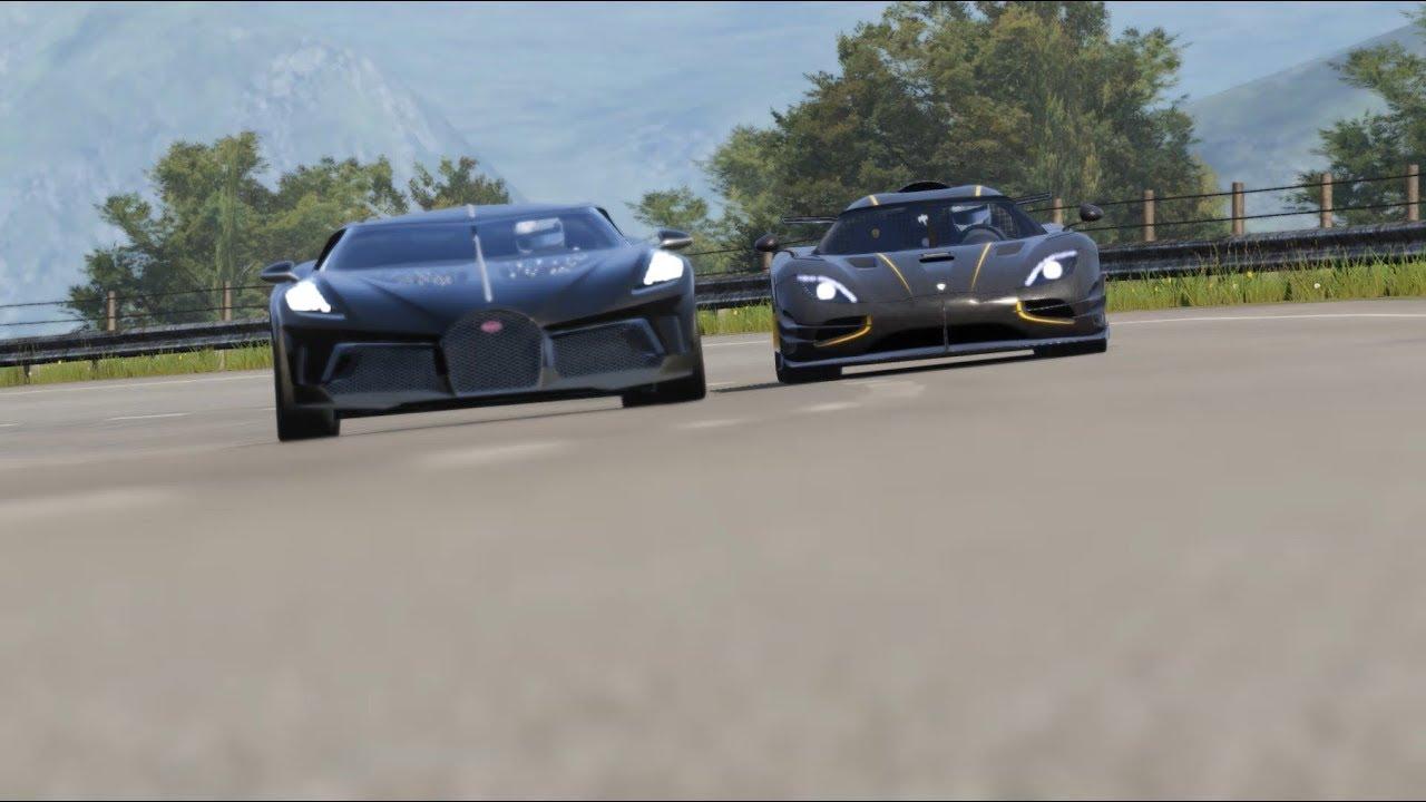 Koenigsegg One:1 vs Bugatti La Voiture Noire vs Bugatti Centodieci