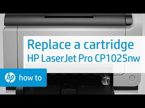Replace the Cartridge | HP LaserJet Pro CP1025nw Color Printer | HP
