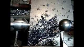 Супер метод Как выточить шар на токарном станке. Метод копира