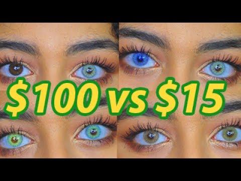 $100 Contacts VS. $15 Contacts (Solotica Hidrocor & Siesta Comparison)