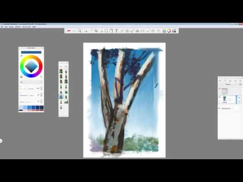 Tree Digital Painting in Autodesk Sketchbook