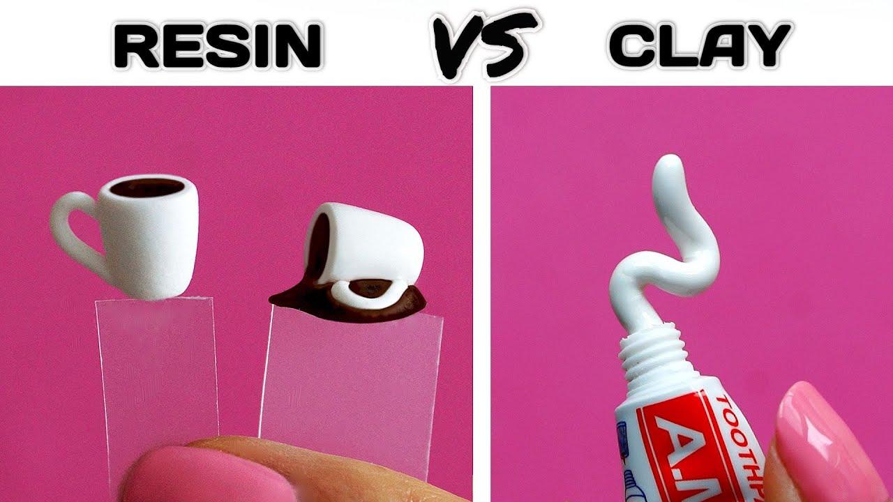 12 ideas Epoxy resin + Polymer clay