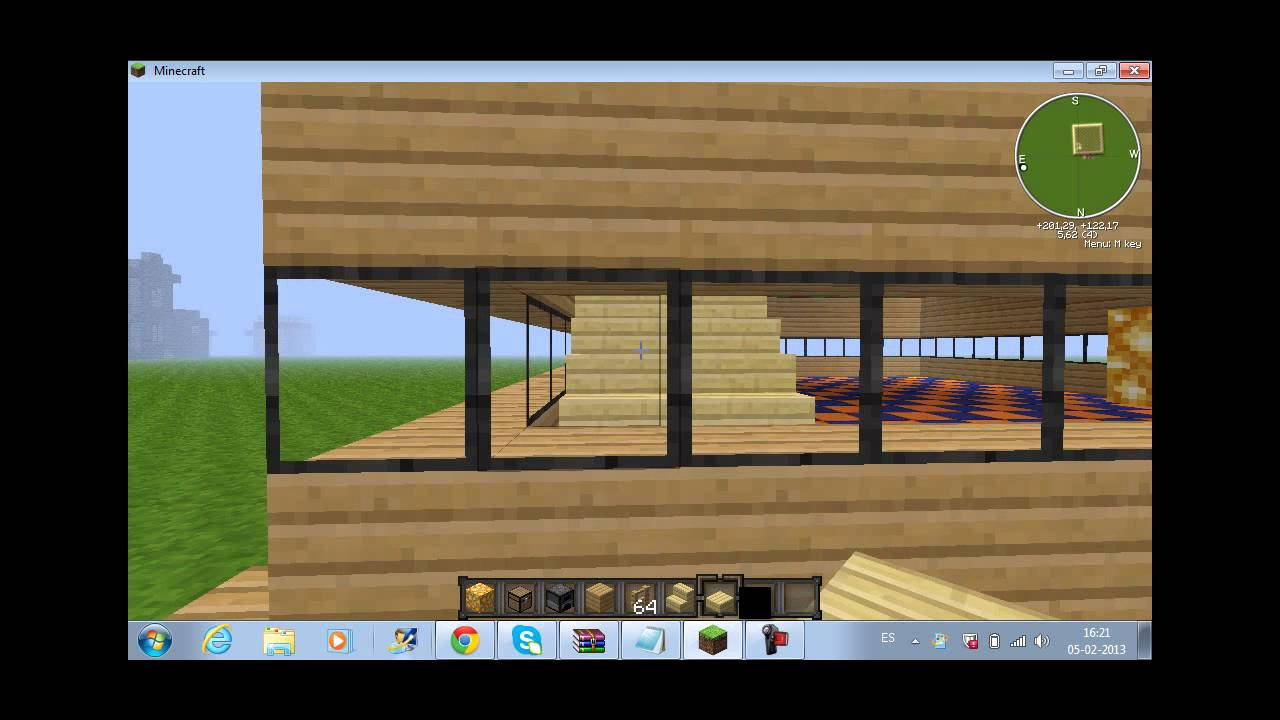 Como hacer una casa moderna en minecraft youtube for Como aser una casa