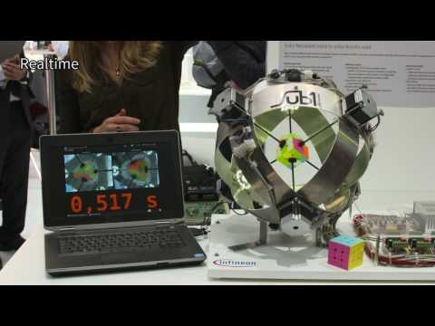 Thumbnail: 0.637 seconds - a new Rubik's Cube machine world record!