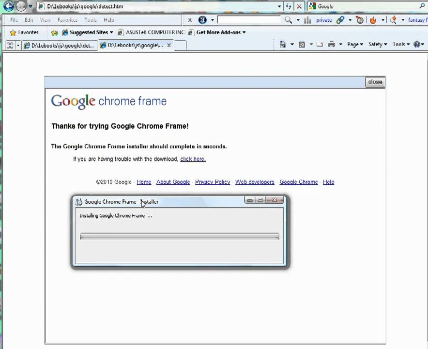 Google Chrome Frame - YouTube