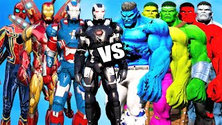 TEAM IRON-MAN vs HULK ARMY