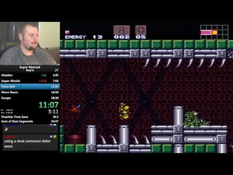 Super Metroid Any% KPDR in 56:49!